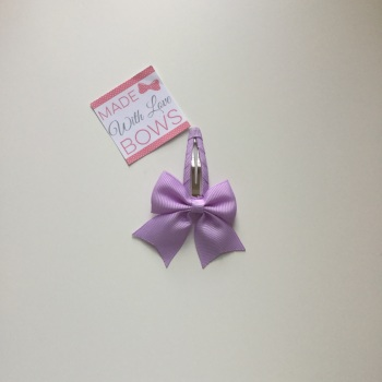 "2.5"" Bow Snap Clip - Lilac"