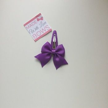"2.5"" Bow Snap Clip - Purple"