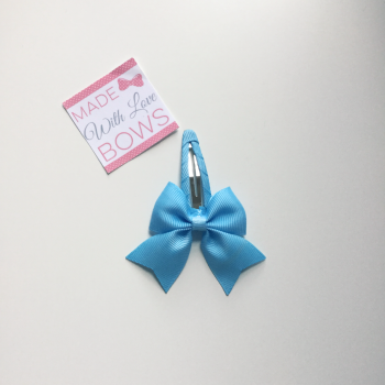 "2.5"" Bow Snap Clip - Baby Blue"