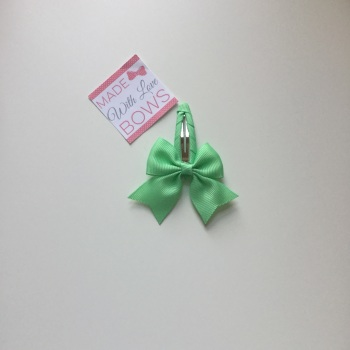 "2.5"" Bow Snap Clip - Mint"