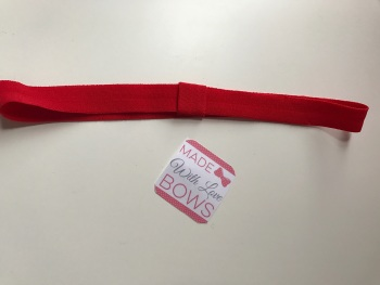 Changeable Soft Elastic Headband - Matt Red