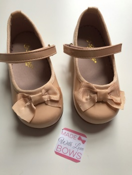 Spanish Mary Jane Bow Shoes - Tan