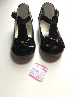Sevva Bow Shoes - Black