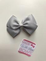 """2.5"""" Bow Clip - Grey"""