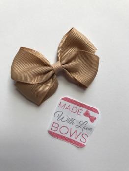 "2.5"" Bow Clip - Tan"