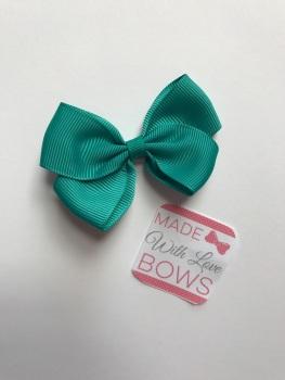"2.5"" Bow Clip - Jade"