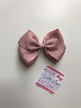 "2.5"" Bow Clip - Antique Mauve"
