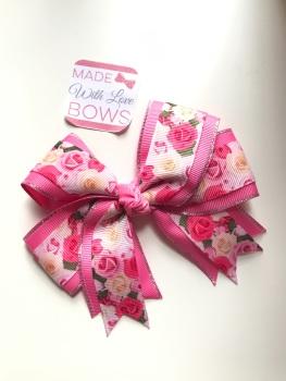"""4.5"""" Rose Clip - Pink & Cream"""