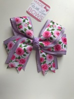 "4.5"" Rose Clip - Lilac & Pink"