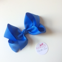 "6"" Bow Clip - Royal Blue"