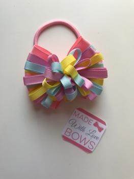 """3.5"""" Loop Bobble - Baby Pink, Lemon, Pale Blue & Tulip"""