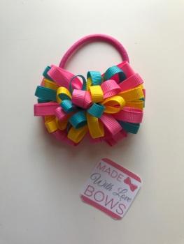 """3.5"""" Loop Bobble - Pink, Lemon & Blue"""