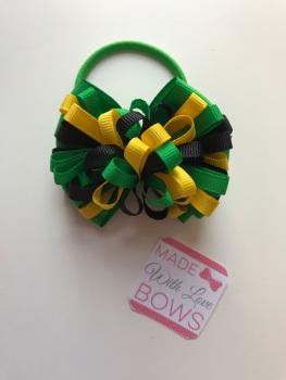 "3.5"" Loop Bobble - Emerald Green, Black & Yellow"
