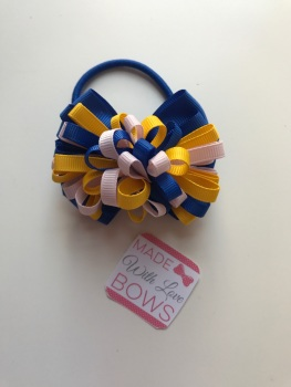 "3.5"" Loop Bobble - Royal Blue, Yellow & White"