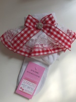 Frilly Socks - Red Gingham -  UPTO 3 weeks waiting time