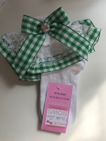 Frilly Socks - Green Gingham