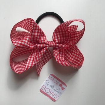 "Gingham 5"" Bobble - Red"
