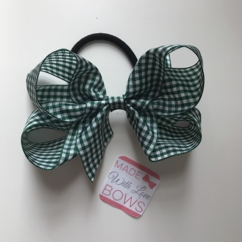 "Gingham 5"" Bobble - Bottled Green"