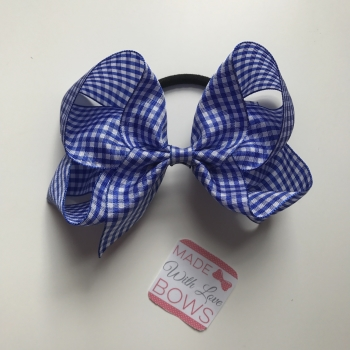 "Gingham 5"" Bobble - Royal Blue"
