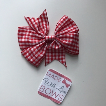 "3"" Gingham Clip - Red"