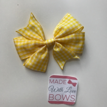 "3"" Gingham Clip - Yellow"