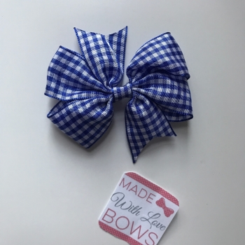 "3"" Gingham Clip - Royal Blue"