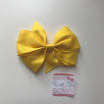 """3.5"""" Flat Bow Clip - Maize Yellow"""