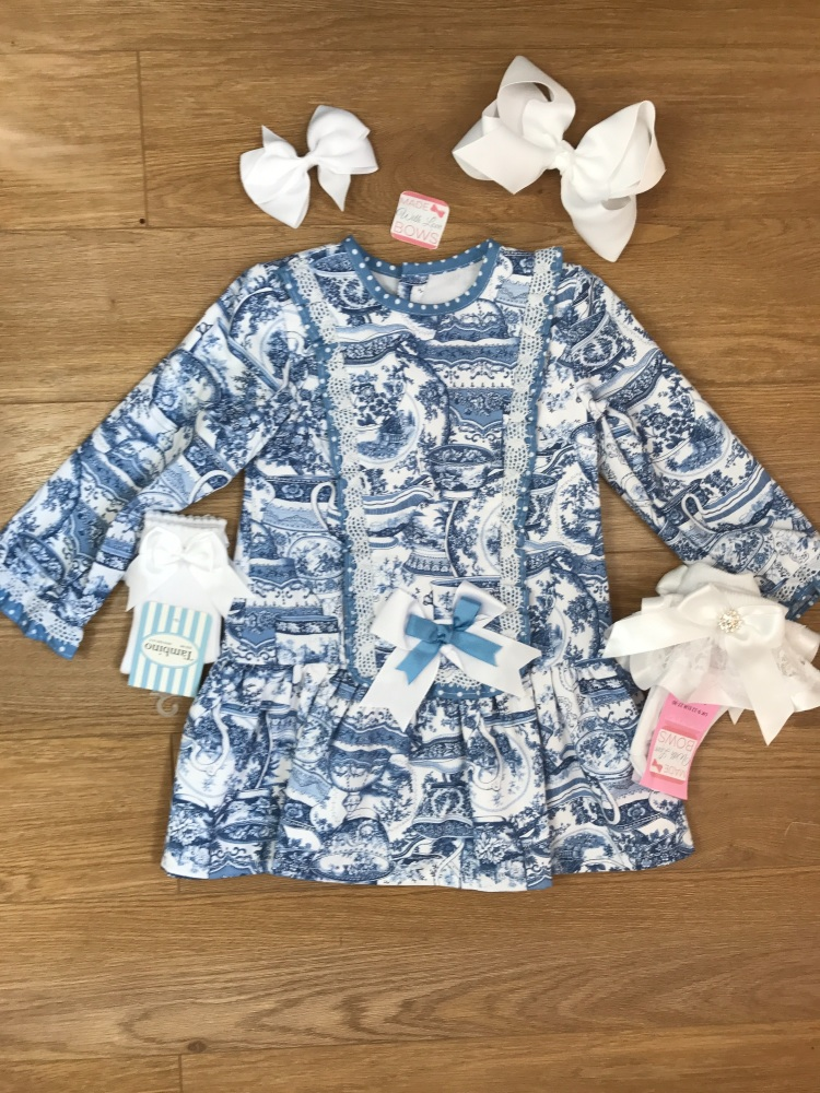 Blue & White Spanish Dress
