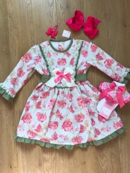 Green & Pink Spanish Dress