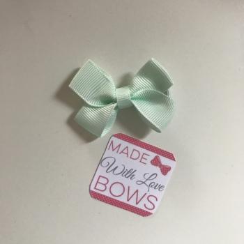 """Mini 2"""" Flat Bow Clip - Mint"""