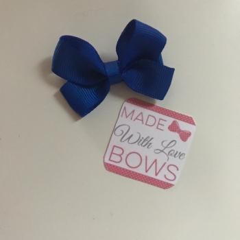 """Mini 2"""" Flat Bow Clip - Royal Blue"""