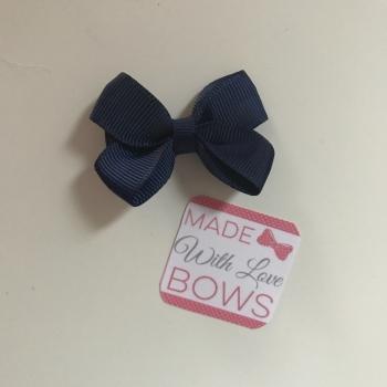 """Mini 2"""" Flat Bow Clip - Navy"""