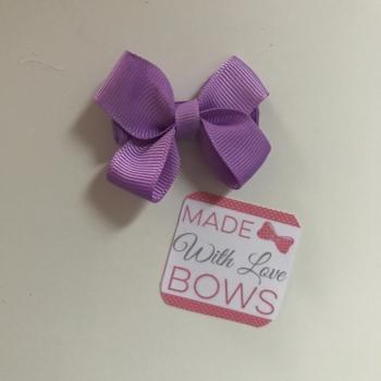 "Mini 2"" Flat Bow Clip - Grape"