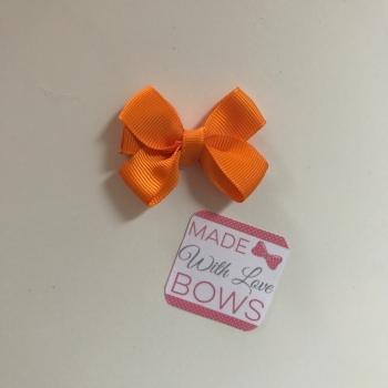 "Mini 2"" Flat Bow Clip - Orange"