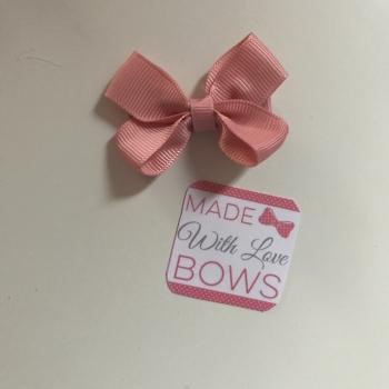 "Mini 2"" Flat Bow Clip - Pink Mauve"