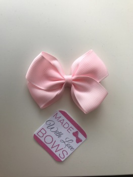 "2.5"" Bow Clip - Light Pink"