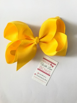"6"" Bow Clip - Yellow"