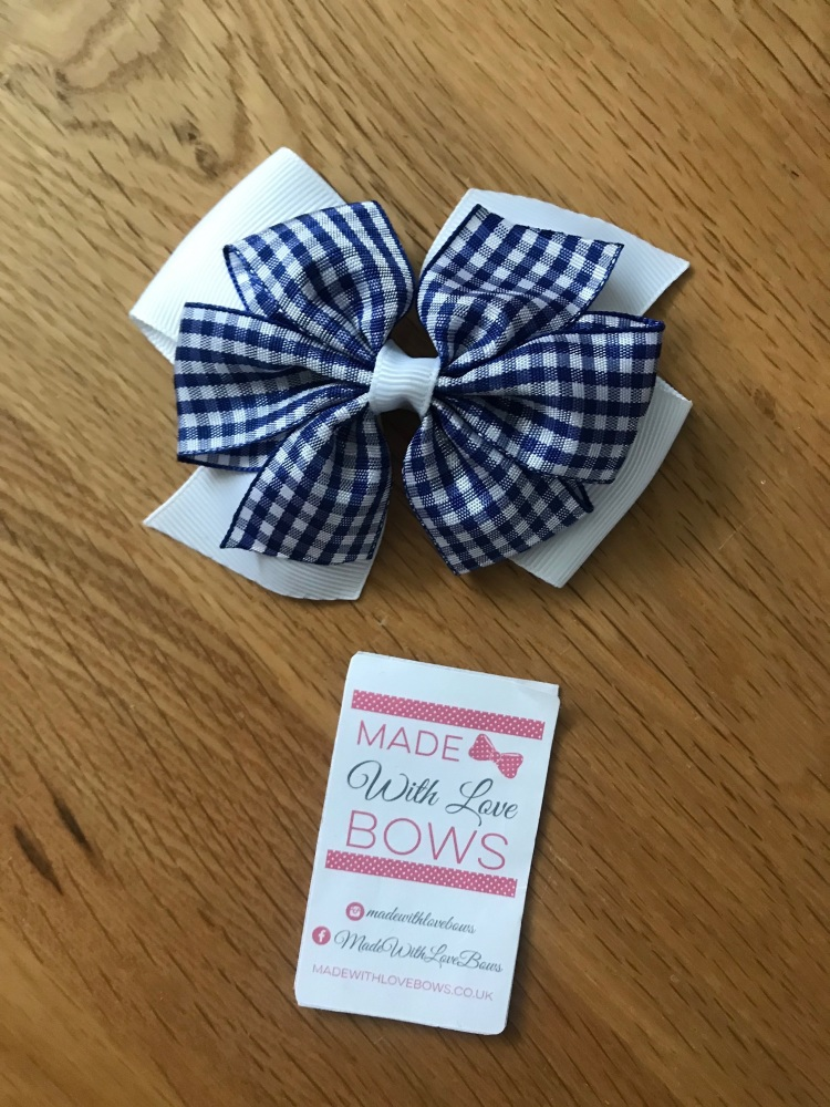 """4"""" Gingham Clips"""