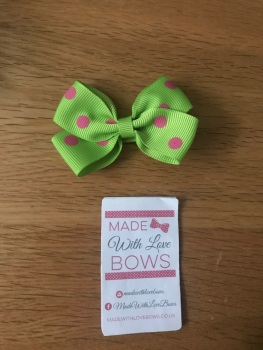 "2.5"" Polka Dot Clips - Choose colour"