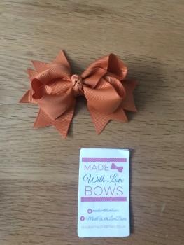 "3"" Spike Bow Clips - Choose colour"
