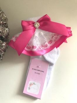 Frilly Socks - Pink