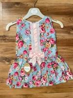 Kinder Dress - Floral & Baby Pink