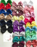 """2.5"""" Bow Clips - 27 colours to choose"""