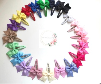 """2.5"""" Snap Clips - 20 colours to choose"""