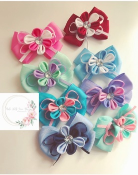 "2.75"" Flower Clip - 8 colours to choose"