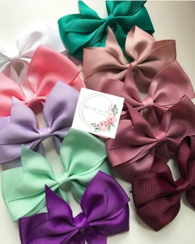 """3.5"""" Flat Bow Clip - 25 colours to choose"""
