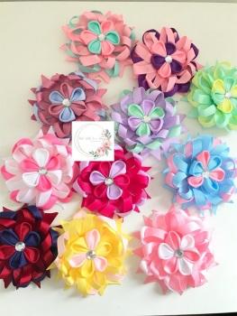 """3.5"""" Flower Centre Clip - 11 Colours to choose"""