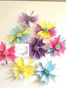 """3.5"""" Flower Spike Clip - 8 colours to choose"""