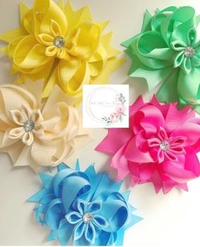 "4.5"" Flower Clip - 27 colours to choose"