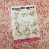 Sept Extra ~ Wooden Butterflies